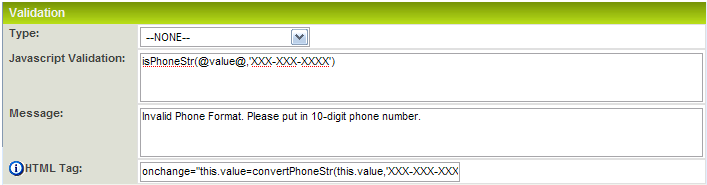 Phone Number Field Validation - SmartWiki