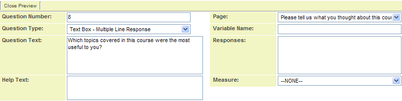 Adding Text Area Questions to a Web Form - SmartWiki