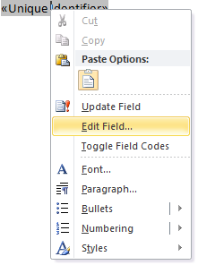 Adding Form Fields to a MS Word Document - SmartWiki